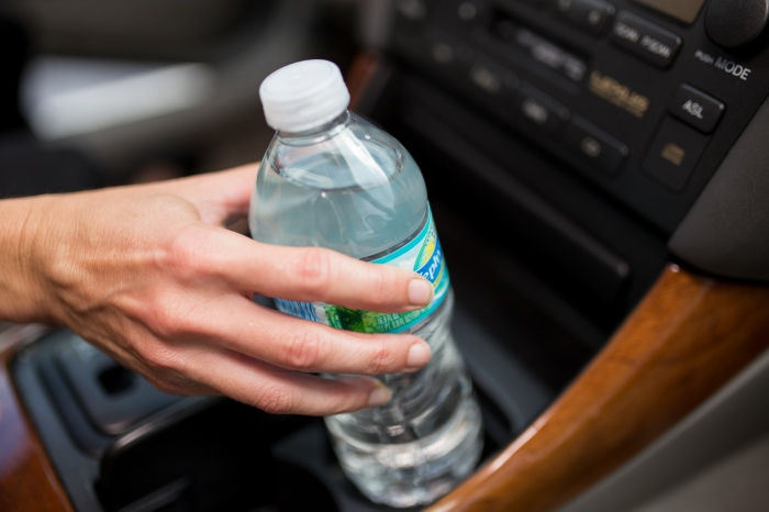 Water bottle toxin news release images.