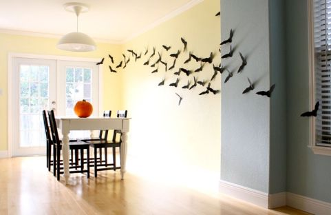 Image result for paper bats on the wall