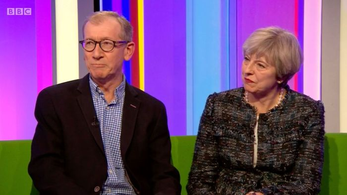 Theresa May and husband on One Show