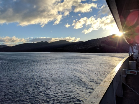 Ferry crossing at sunset:Photo Credit: Hayley Burrell