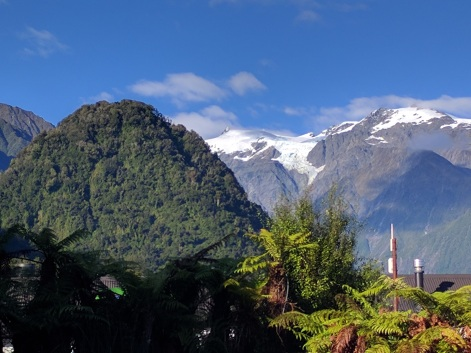 Ice topped mountains of Franz Josef: Phot Credit Hayley Burrell