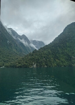 Take the ferry over the green waters of Milford Sound:Ohot Credit: Hayley Burrell