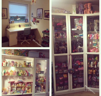 Maria's office/toy room is a dream for any hardcore 90s fan. Photo credit : Maria Godsk Bruun