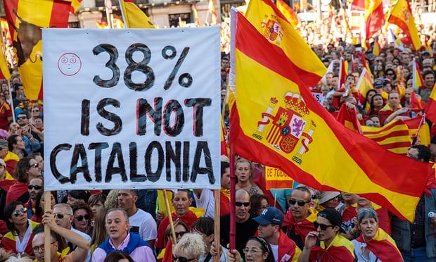 Pro Spain demonstration BBC