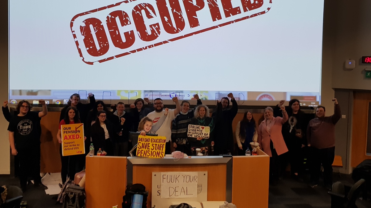 Students occupy Logie Lecture Theatre to support strike