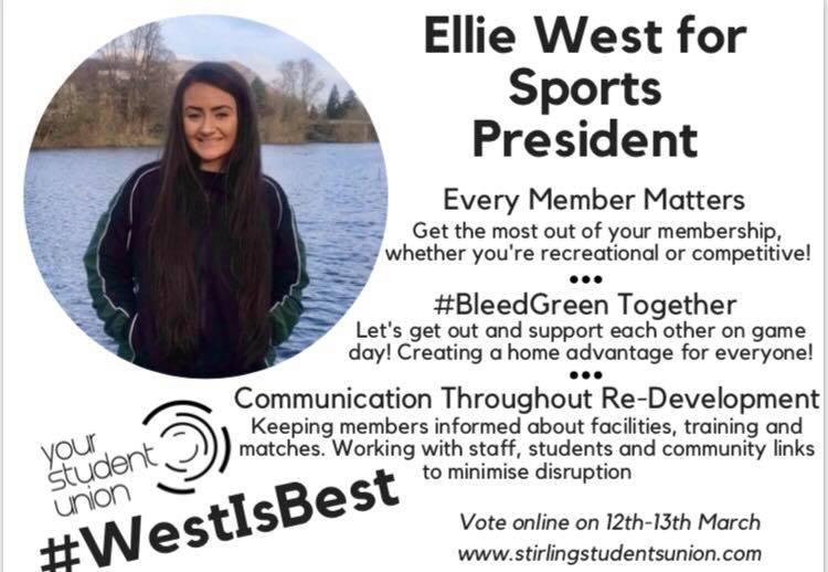 Ellie West for Sports President