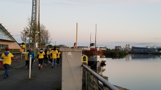 The Walk of Hope by the Waverley paddle steamer