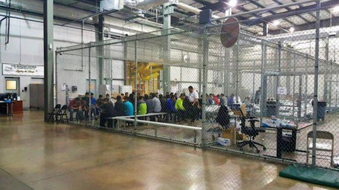 trump steel cage