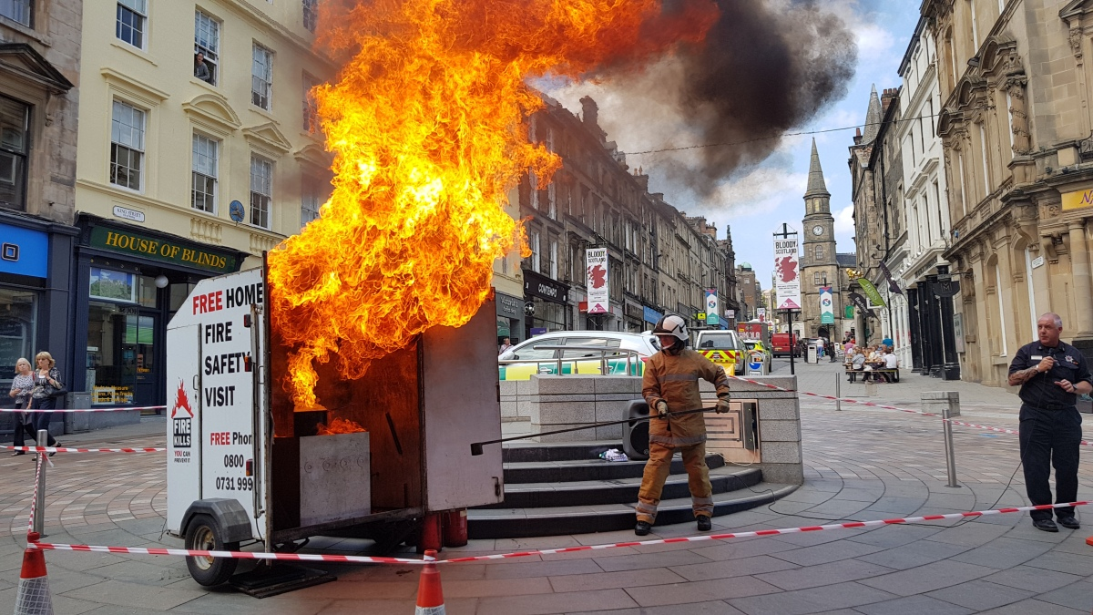 Emergency services host safety day in Stirling city centre