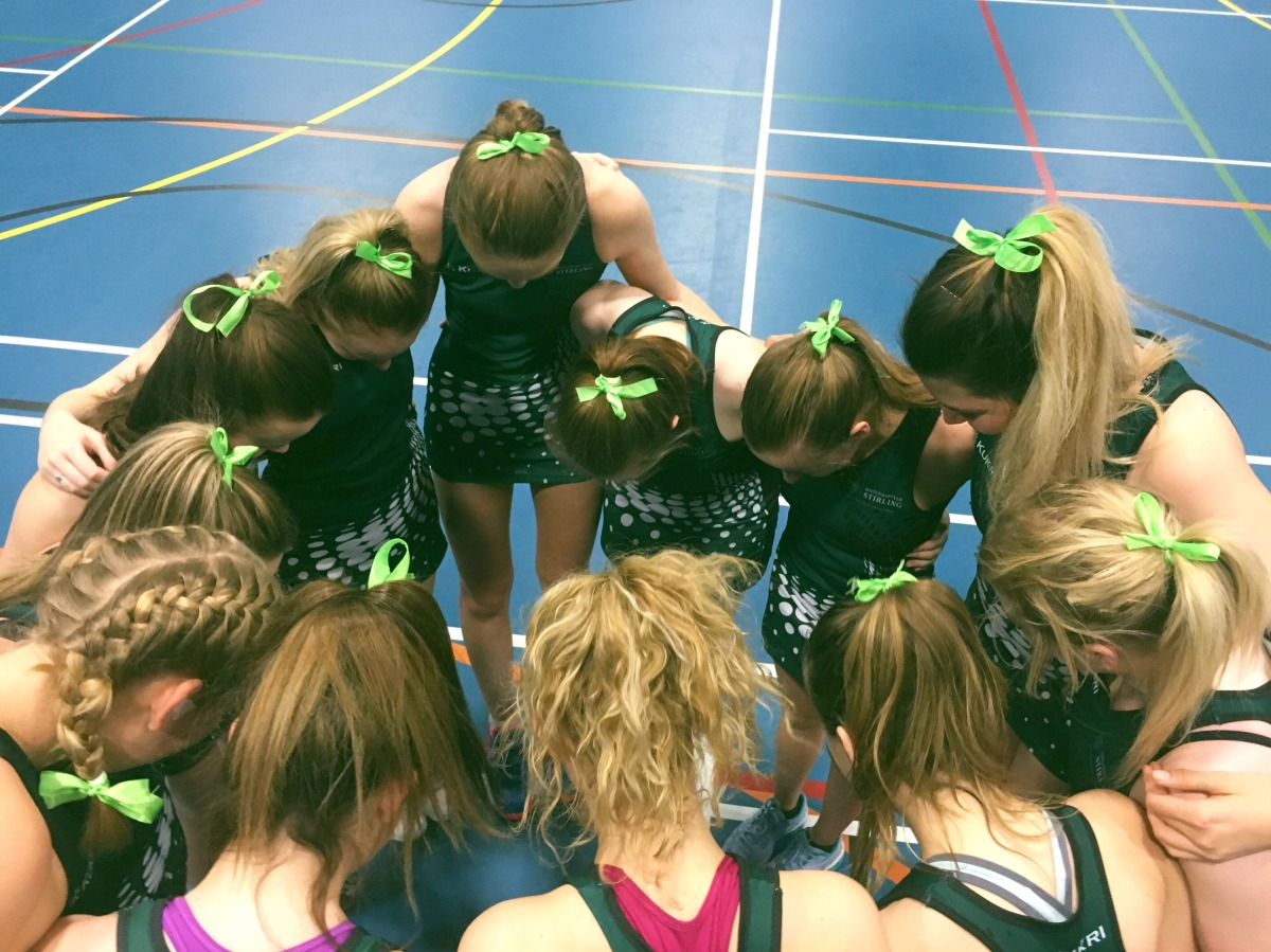 Stirling Netball Go Green And Pink For Charity