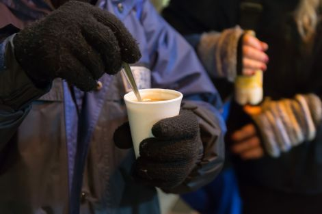 The pastors make teas and coffees for people on the street Credit: Stirling Street Pastors
