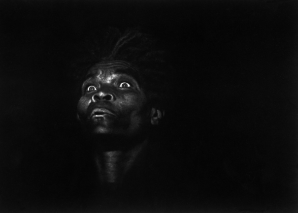 Credits: W. Eugene Smith, Magnum Photos Shows a patient in a Haitian asylum, 1959.