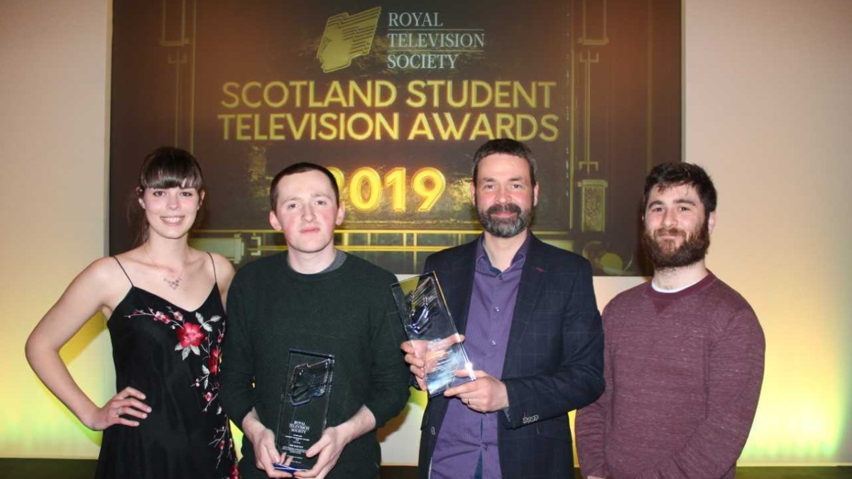 Stirling scoops hat-trick at the student TV awards