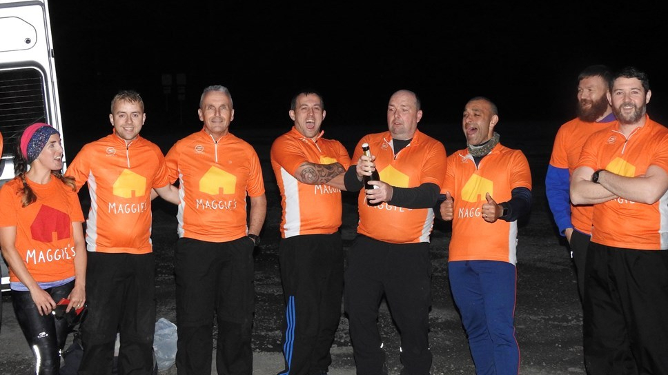 Forth Valley Police officers celebrate as they complete the national Three Peaks Challenge